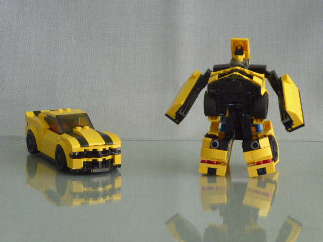Moc Speed Champions Legoformers Bumblebee Vs Barricade 6 Wide