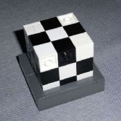 Black/White Checkered Soma Cube